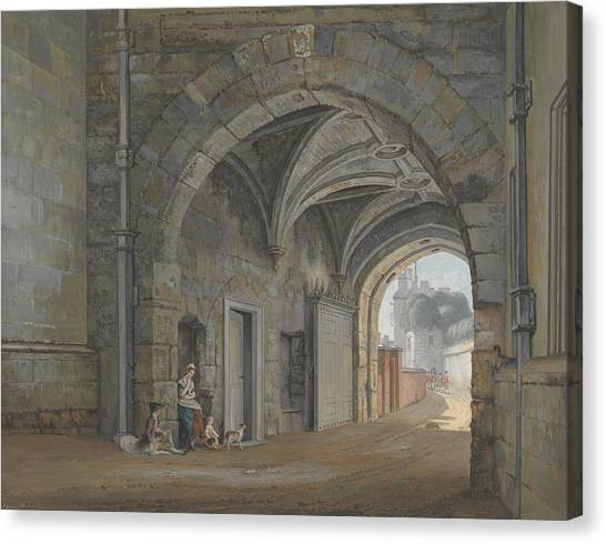 Queen Elizabeth Canvas Print - The Queen Elizabeth Gate by Paul Sandby