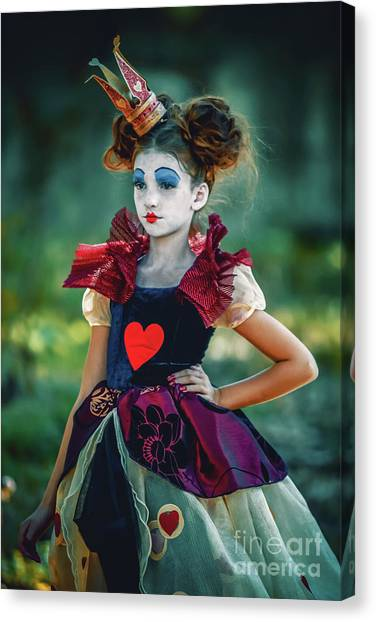 Canvas Print featuring the photograph The Queen Of Hearts Alice In Wonderland by Dimitar Hristov