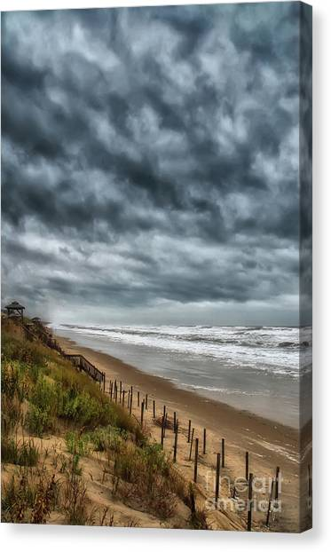 Carolina Hurricanes Canvas Print - The Quiet Before The Storm by Lois Bryan
