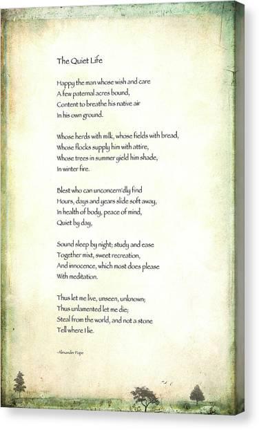 quiet life poem