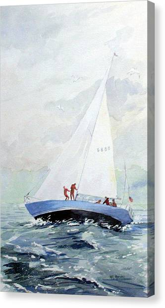 The Race Canvas Print