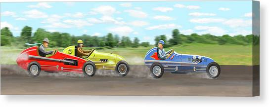 The Racers Canvas Print