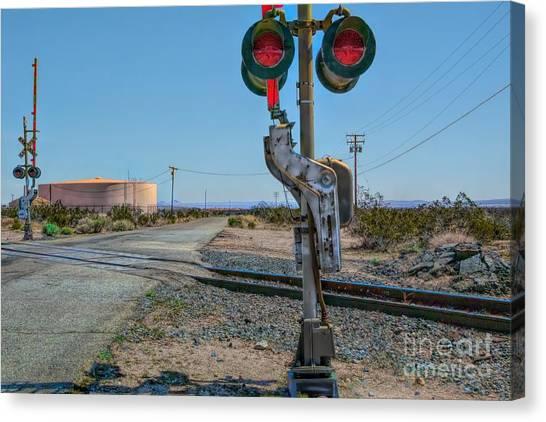 The Railway Crossing Canvas Print