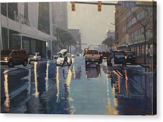 Canvas Print - The Rain by David Buttram