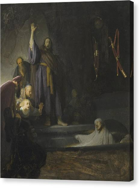 Messiah Canvas Print - The Raising Of Lazarus by Rembrandt
