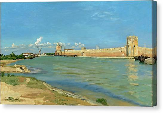 The Ramparts At Aigues Mortes Canvas Print