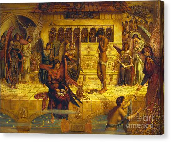 Pre-modern Art Canvas Print - The Ramparts Of God's House by John Melhuish Strudwick