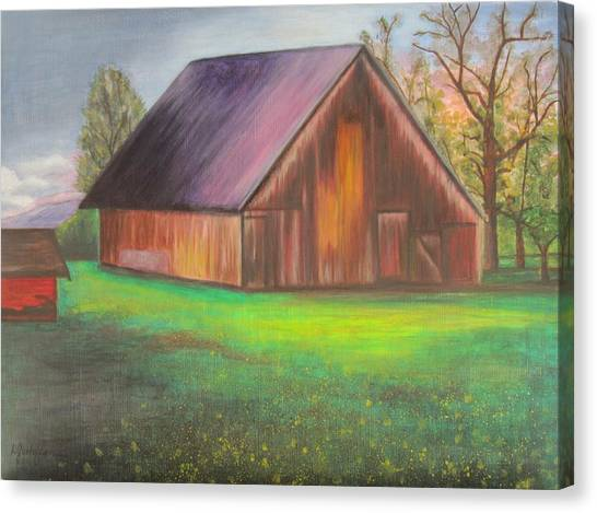 The Ranch Canvas Print by Leslie Gustafson