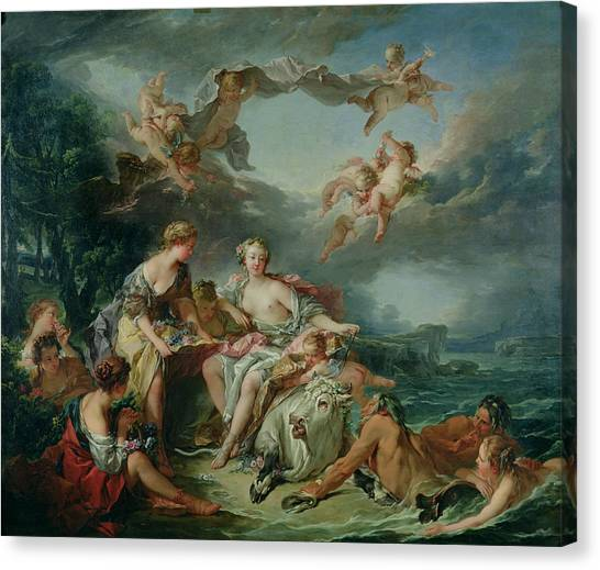 Europa Canvas Print - The Rape Of Europa by Francois Boucher