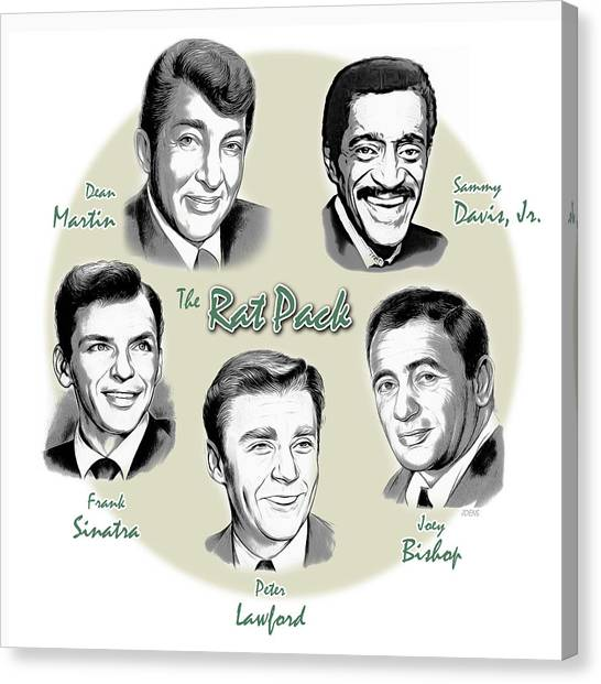 Frank Sinatra Canvas Print - The Rat Pack by Greg Joens