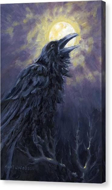 The Raven Called My Name Canvas Print