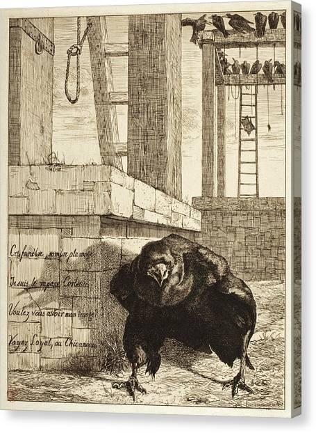 Raven Canvas Print - The Raven by Felix Bracquemond