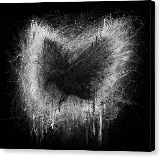 The Raven - Black Edition Canvas Print