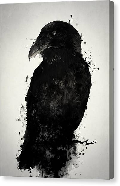 Ravens Canvas Print - The Raven by Nicklas Gustafsson