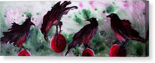 The Raven Still Beguiling Canvas Print by Sandy Applegate