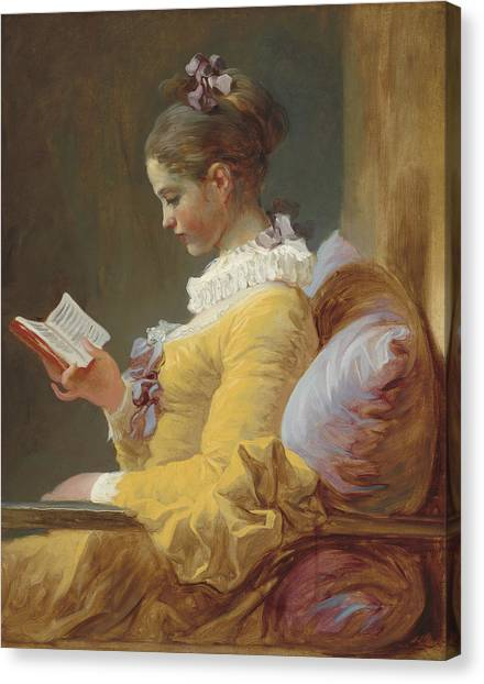 Rococo Art Canvas Print - The Reader by Jean-Honore Fragonard