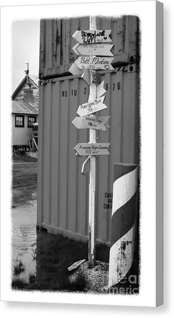 The Real Alaska - Crossroads Canvas Print