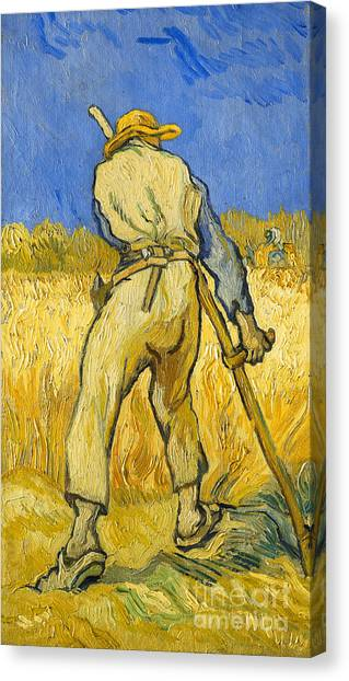 Post-modern Art Canvas Print - The Reaper by Vincent van Gogh