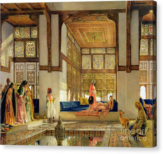 Racism Canvas Print - The Reception by John Frederick Lewis