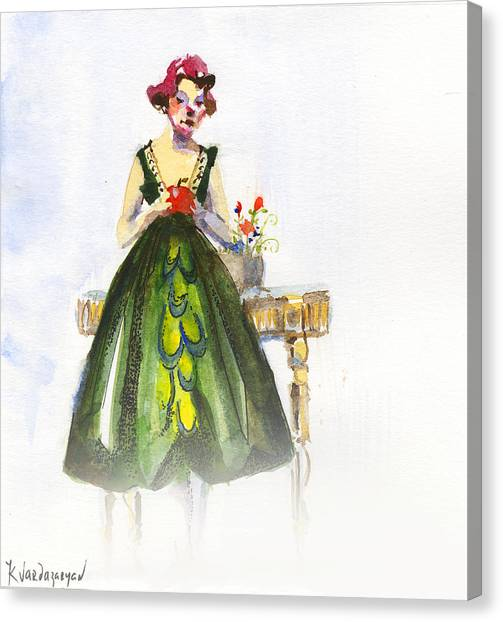 Apple Canvas Print - The Red Apple by Kristina Vardazaryan