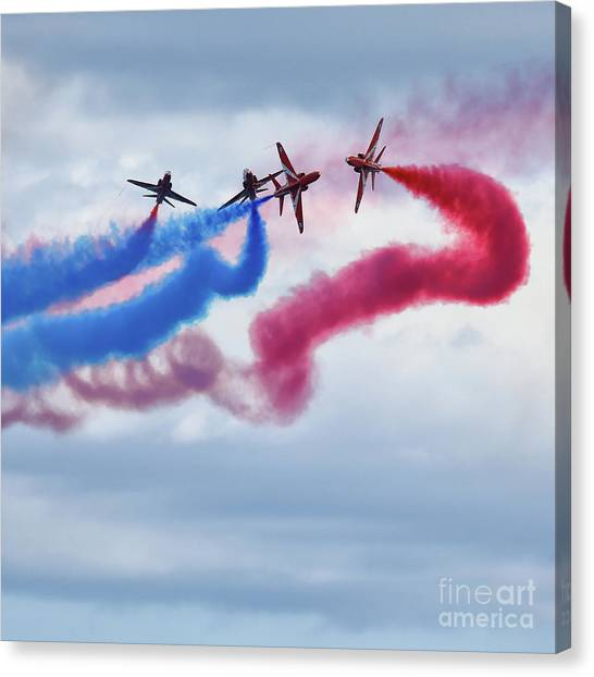 Airplane Canvas Print - The Red Arrows by Smart Aviation