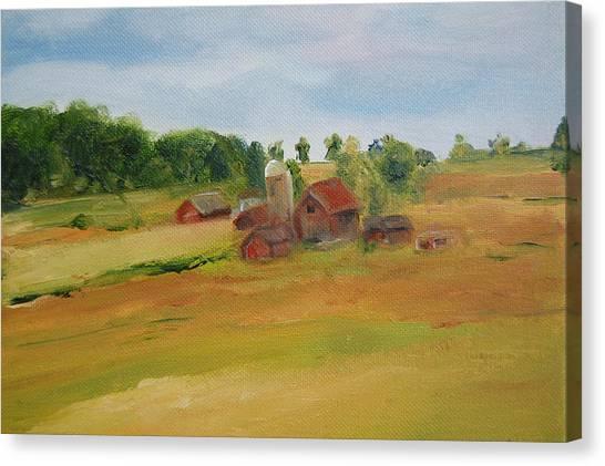 The Red Barn Canvas Print by Lisa Konkol