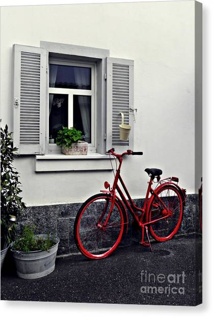 Canvas Print - The Red Bicycle by Sarah Loft