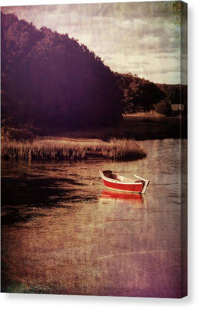 The Red Boat Canvas Print by JAMART Photography