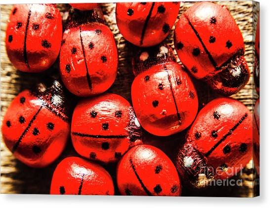 Ladybugs Canvas Print - The Red Bug Out  by Jorgo Photography - Wall Art Gallery