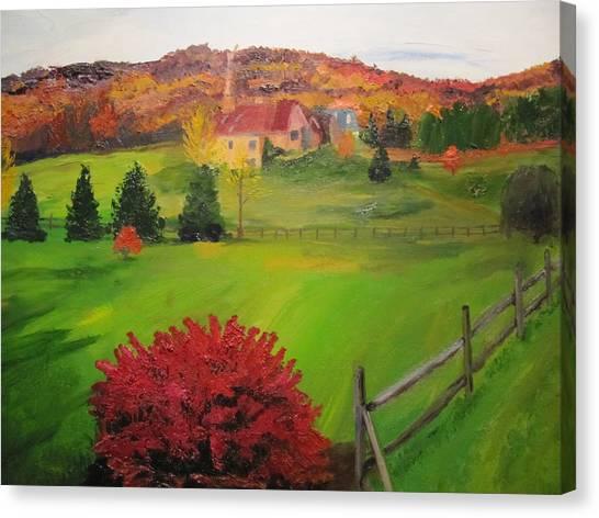 The Red Bush Canvas Print by Gloria Condon