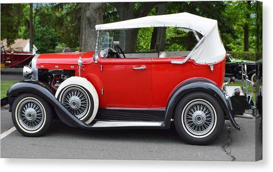 The Red Convertible Canvas Print