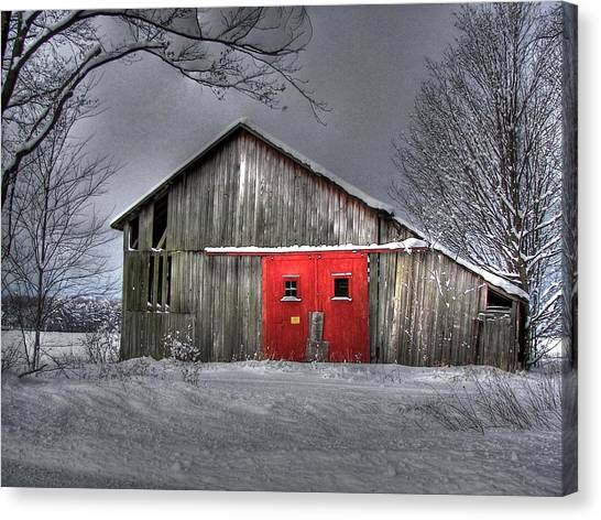 The Red Door Canvas Print by Maria Dryfhout