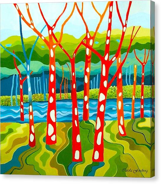 The Red Forest Canvas Print by Carola Ann-Margret Forsberg