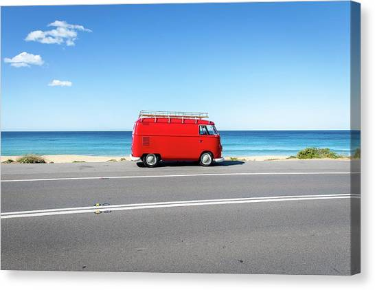 The Red Kombi Canvas Print