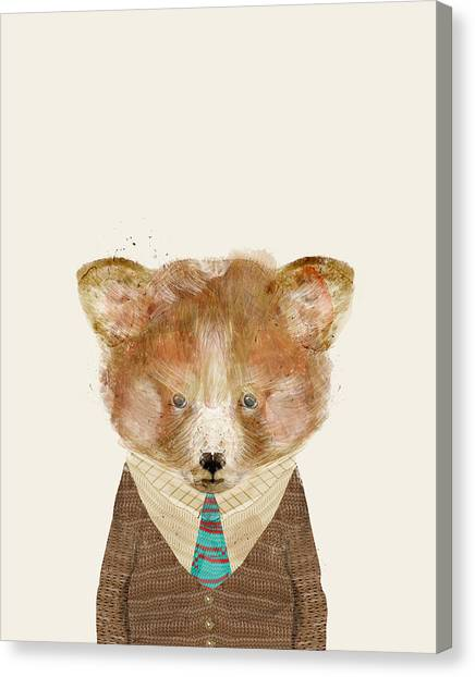 Colourfull Canvas Print - The Red Panda by Bleu Bri