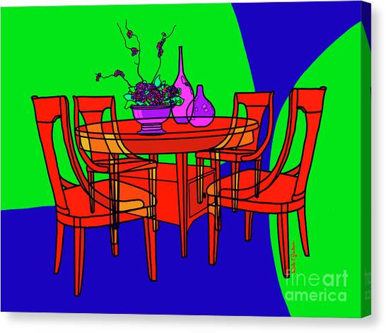 The Red Table Canvas Print
