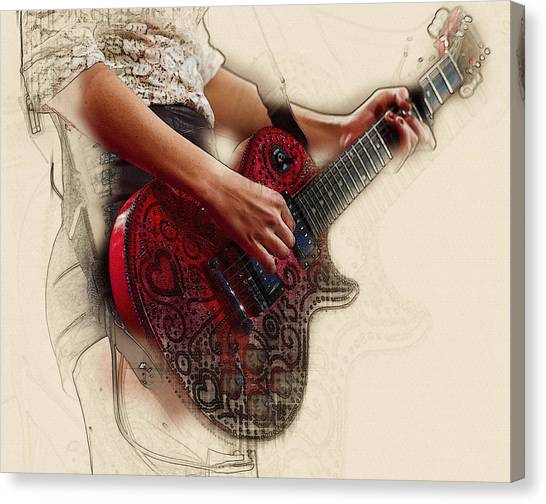 Taylor Swift Canvas Print - The Red Tour Guitar by Don Kuing
