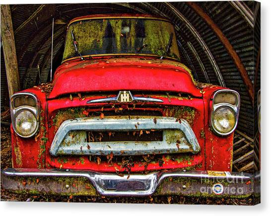 Binders Canvas Print - The Red Truck by Mitch Shindelbower