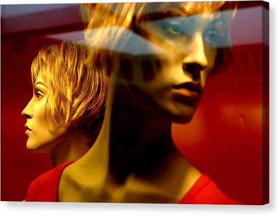 The Red Twins Canvas Print by Jez C Self