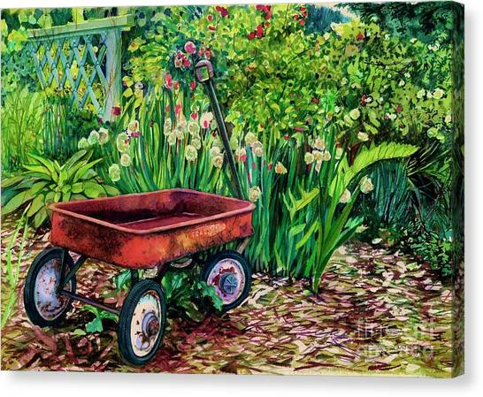 The Red Wagon Canvas Print