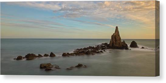 The Reef Of The Cape Sirens At Sunset Canvas Print