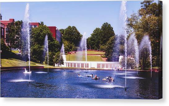 Clemson University Canvas Print - The Reflection Pond - Clemson University by Library Of Congress