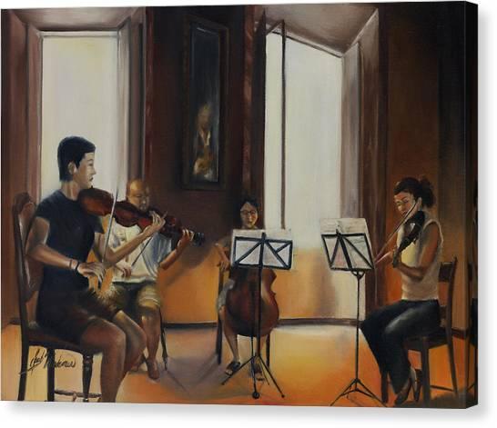 The Rehearsal Canvas Print by Leah Wiedemer
