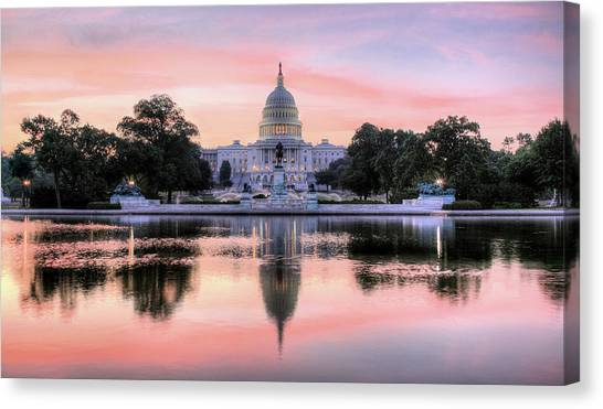 Capitol Building Canvas Print - The Republic Awakens by JC Findley
