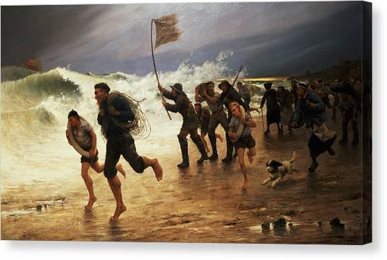 Coast Guard Canvas Print - The Rescue by Maurice Poirson