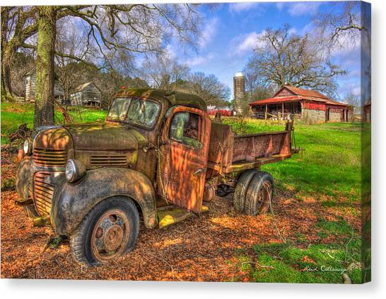 The Resting Place Boswell Farm 1947 Dodge Dump Truck Canvas Print