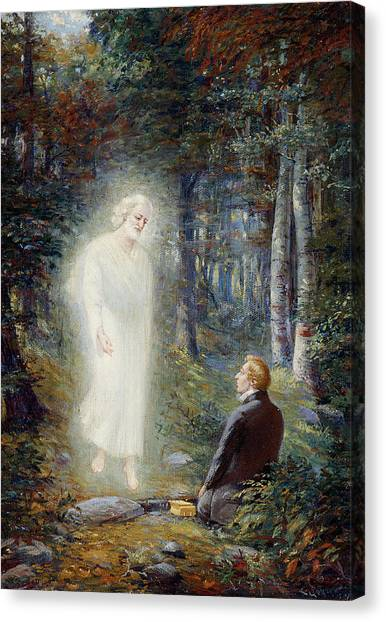 Mormon Canvas Print - The Restoration by Lewis A Ramsey