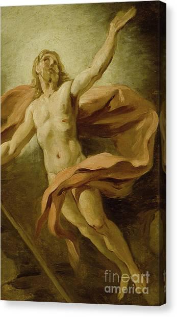Resurrected Canvas Print - The Resurrection, 1739  by Jean Francois de Troy