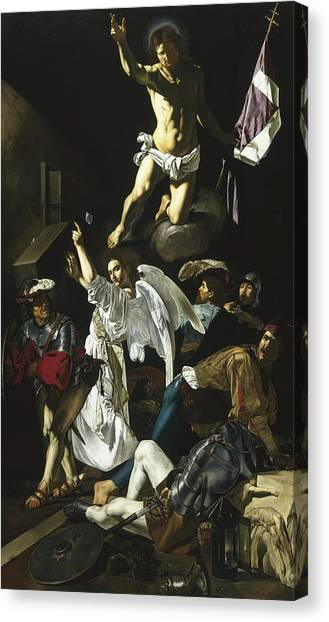 Resurrected Canvas Print - The Resurrection by Cecco de Caravaggio