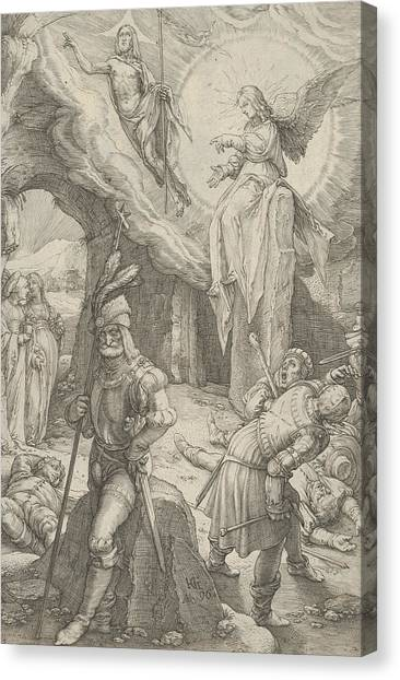 Early Christian Art Canvas Print - The Resurrection, From The Passion Of Christ by Hendrik Goltzius